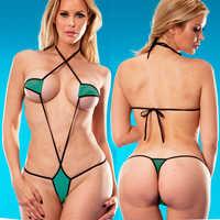 2018 Exotic Micro Bikini Set Sunbath Beach Swimming Lingeries Swimwear Female Sex Extreme Cossies Women Sexy G-String Swimsuit