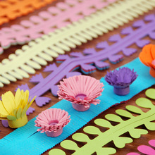 18 pcs/1 bag Flower Quilling Paper Strips Colorful Origami DIY Hand Craft Stencil Party Backdrop Decor Art