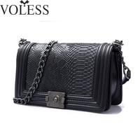 2017 Famous Brand Bag Women Alligator Pu Leather Shoulder Bags Crossbody Chains Bag Designer High Quality