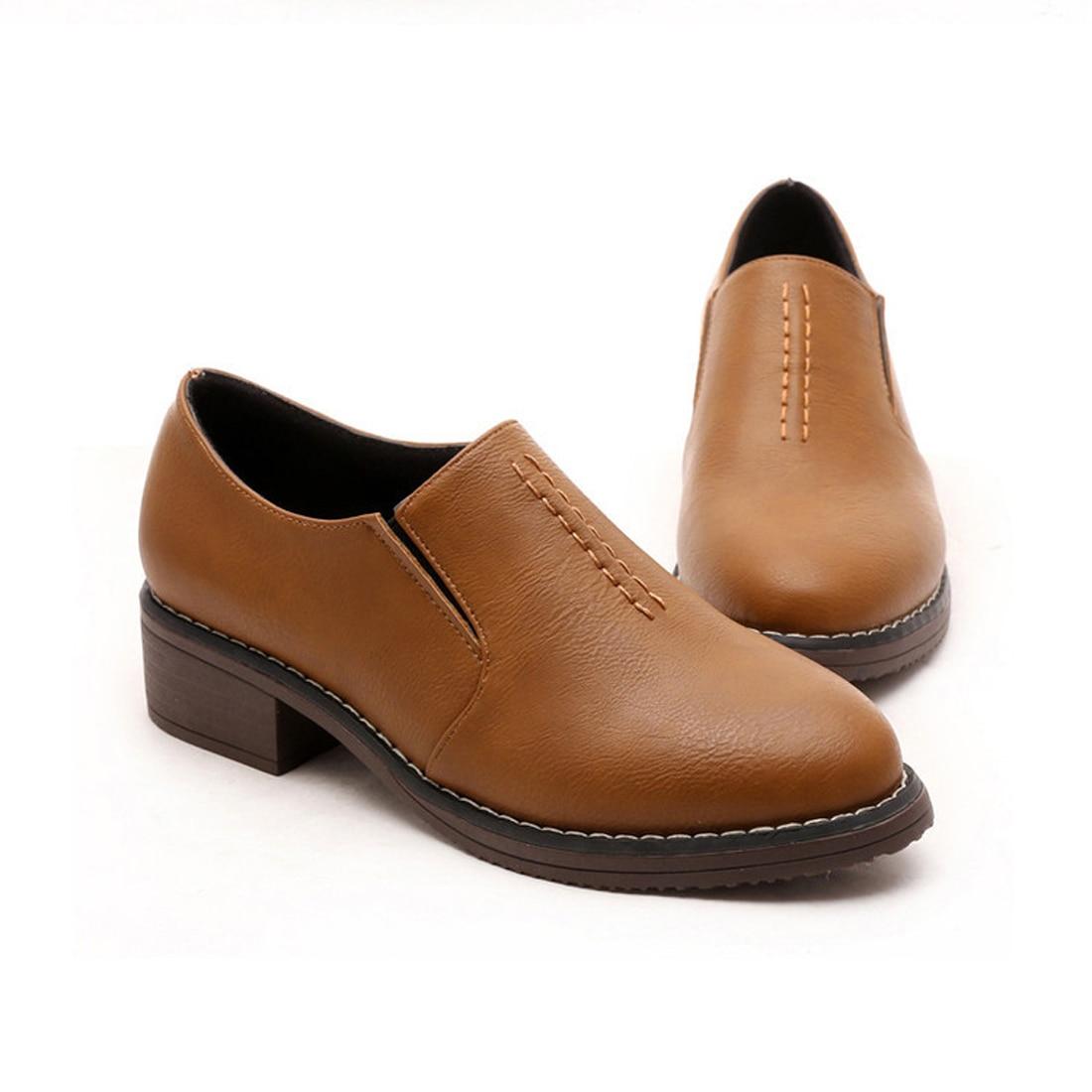 Nuevas Mujeres Zapatos de Cuero Genuinos Ocasionales Zapatos Oxford Para Las Mu