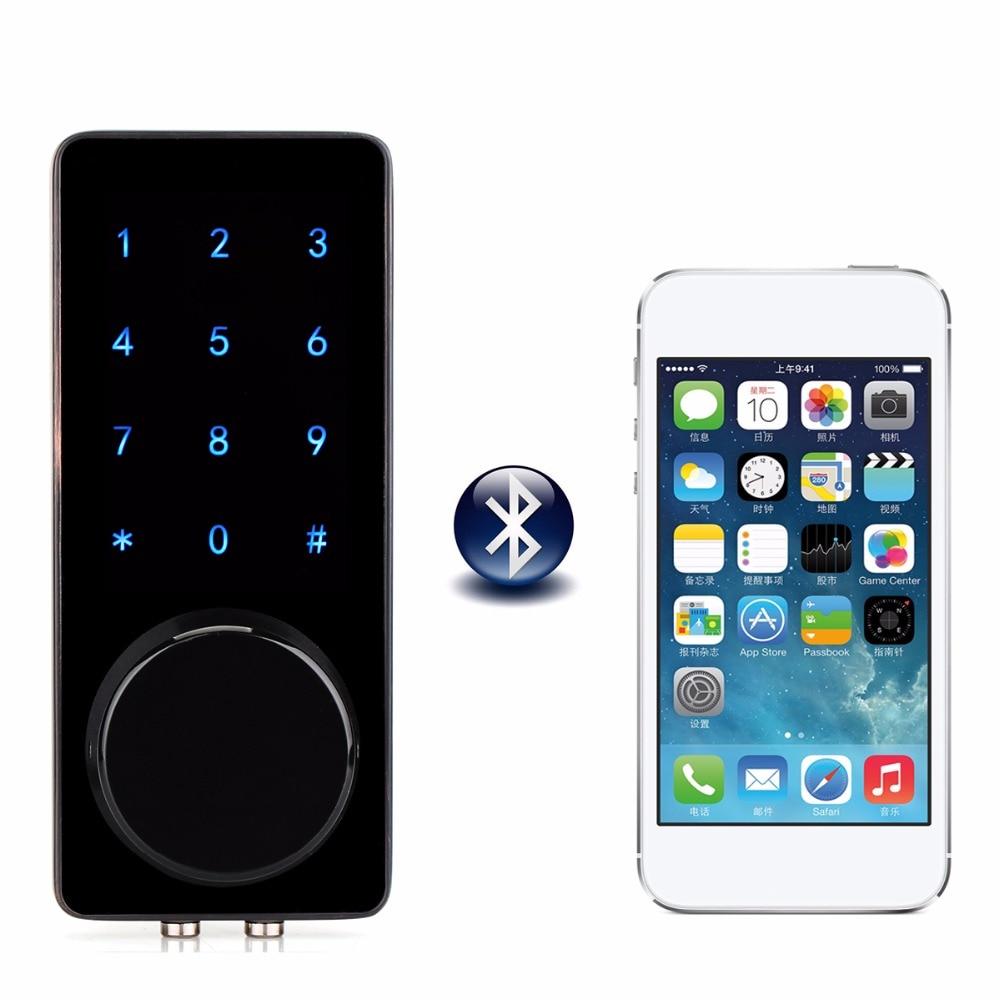 все цены на Office Smart Touch Screen Bluetooth Lock Digital Password Keypad Door Lock With Smartphone App For Hotel Apartment F1400A онлайн