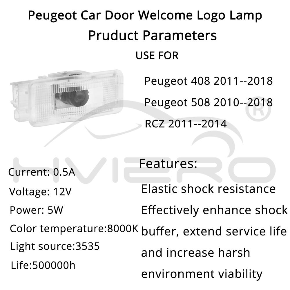 Welcome Light Door Led Projection Lamp Laser Led for Peugeot 508 408 RCZ 1007 307 407 5008 607 806 Car Door Bulb Car Neon Light in Decorative Lamp from Automobiles Motorcycles