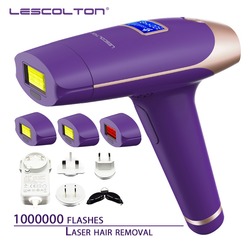 1000000 Times 4in1 Lescolton Depilador A Laser IPL Epilator Hair Removal LCD Display Machine Laser For Boay Bikini Face Underarm