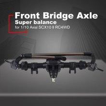 AUSTAR 50006 Metel Front Bridge Axle Shaft for 1/10 Axial SCX10 II RC4WD RC Crawler Climbing Car Upgrade Parts for axial scx10 upgrade parts 1 10 scx 10 scx10 05 rc aluminum front link 122mm y link set metal