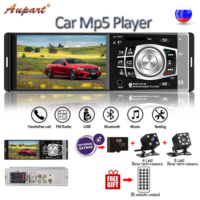 universal multimedia for car 1 Din Car Radio 4.1 inch mp5 player with steering wheel remote control bluetooth rear camera