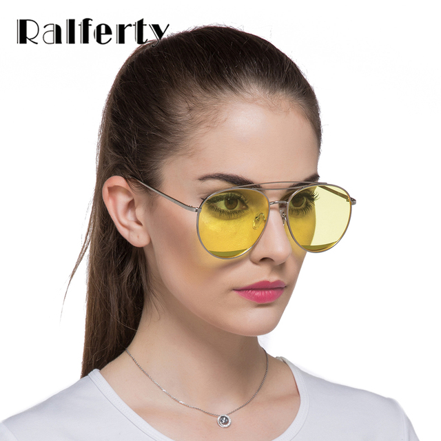 6ed67ad693 Ralferty 2017 New Stylish Transparent Sunglasses Women Blue Yellow Lens  Candy Eyewear Chic Woman Clear Sun