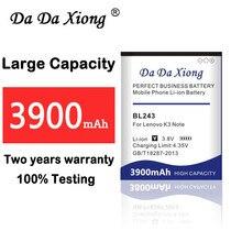 3900 mAh BL243 Батарея для lenovo K3 Примечание K50-T5 K50-T3S A7000 A5500 A5860 A5600 A7600 замена мобильного телефона Батарея