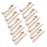 10Set Maple 4 string 4/4 Violin Parts Violin Neck And Fingerboard Unfinished