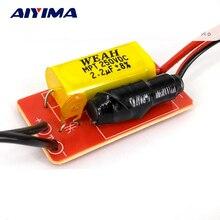 Aiyima 2 pcs puro agudos alto falante divisor de freqüência de áudio 40 w estágio casa tweeter carro filtros crossover para 2 5 Polegada alto falante