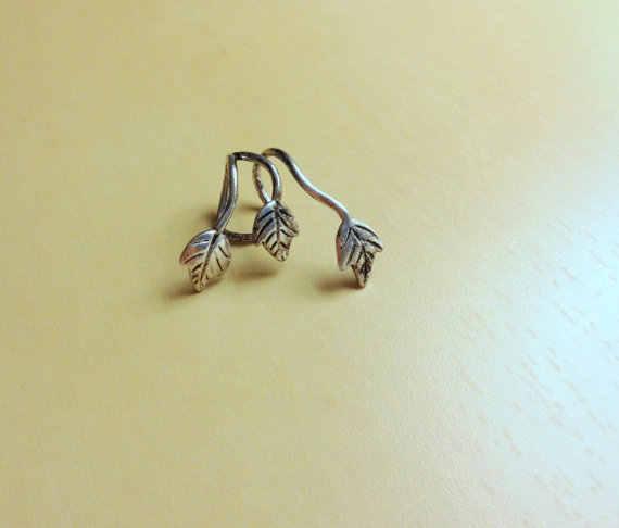 ¡Oferta! Exquisito Clip de oreja de tres hojas para oreja, accesorios de joyería para mujer, aretes de mujer modernos 2018