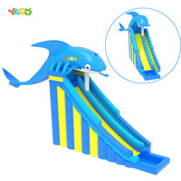 New Design Dolphin Commercial Giant Inflatable Water Slides with Pool for sale