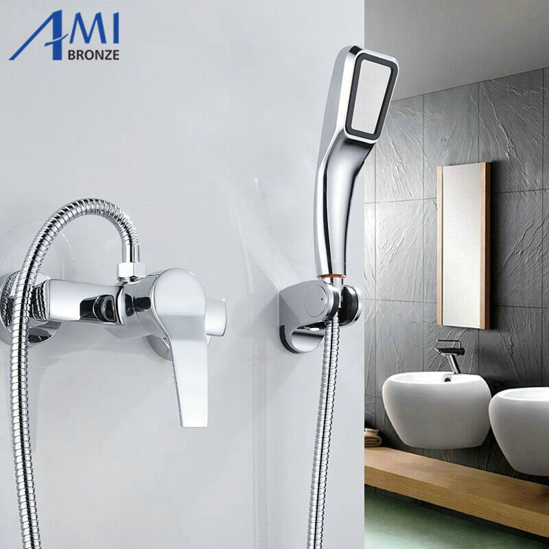 Simple Set Bathroom Shower Faucets Bathtub Faucet Mixer Tap With Hand Shower  Head Shower Faucet Sets In Shower Faucets From Home Improvement On ...