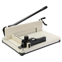 12 Paper Cutter Guillotine A4 Trimmer Metal Base Booking Industrial 600 Sheets Imbed Inside