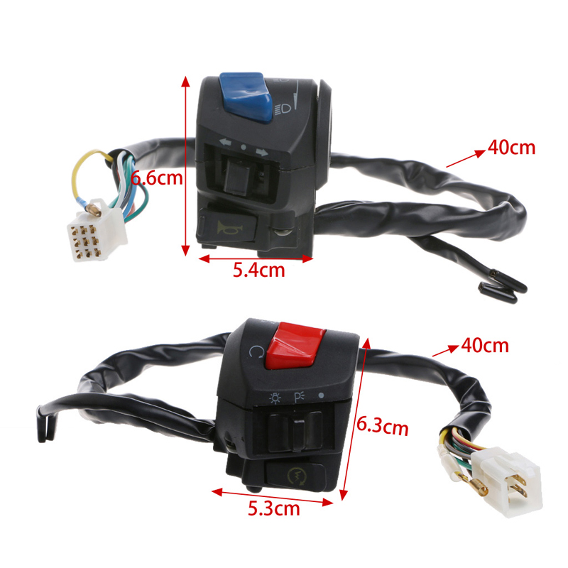2x Motorcycle 22mm Handlebar Horn Turn Signal Headlight Electrical Start Switch Electrical System Motorcycle Switches