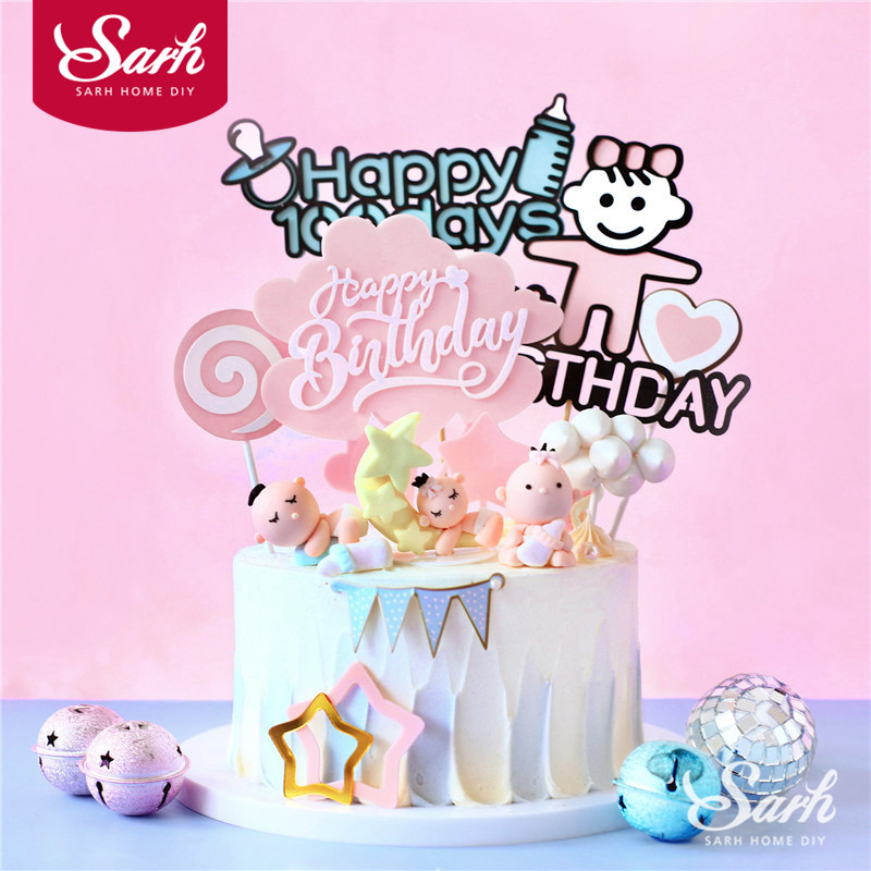 Worldwide delivery happy 1st birthday cake topper in Adapter