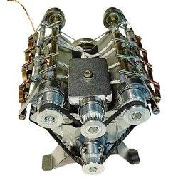 V8 Высокоскоростная Модель двигателя Электромагнитный 8-цилиндровый двигатель автомобиля принцип работы ствол игрушка для раннего обучени...