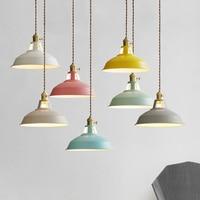 Modern LED Pendant Lights Multicolour Dining Room Restaurant Lamp Switch Pendant Lamps Colorful Home Decration Lighting