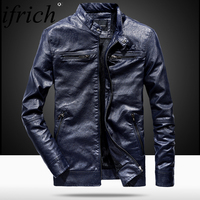 IFRICH Pilot Genuine Leather Jacket Men Spring Autumn Slim Design Winter Motorcycle Jacket Men Outerwear Bomber Leather Coat Man