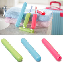 1 Pcs Portable Trip Toothbrush Protection Tube Camping Bathroom Accessories Box compact convenient Storage Box & BL11