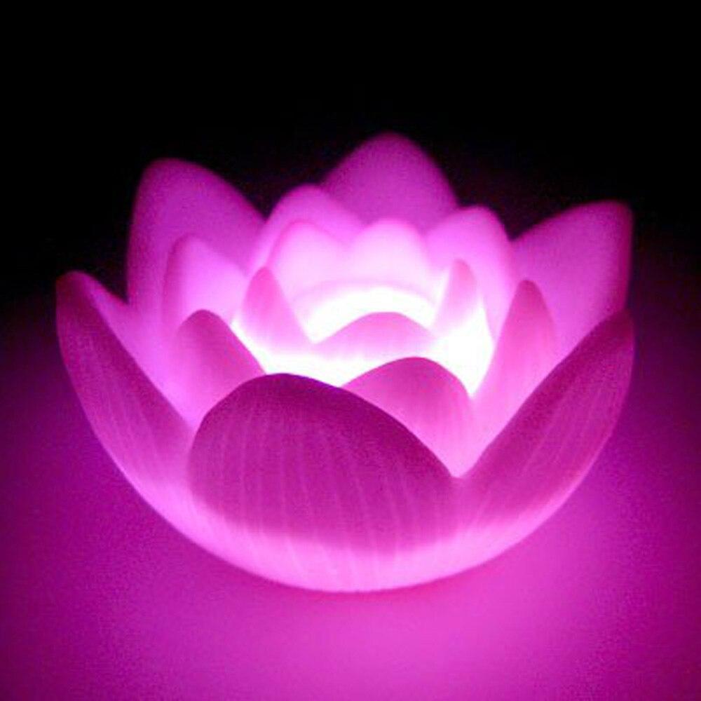 CNIM Hot Color Changing LED Lotus Flower Romantic Love Mood Lamp ...