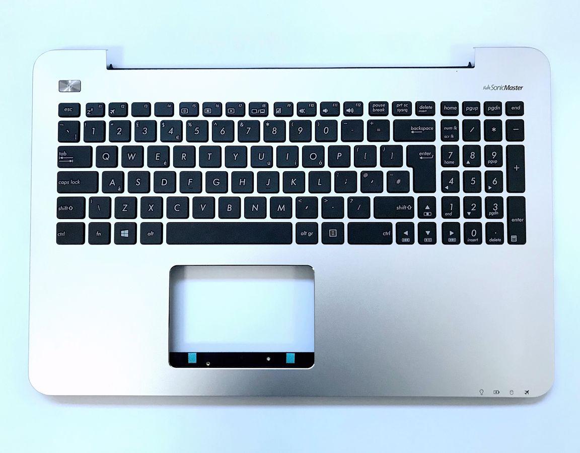UK keyboard for Asus X555LN X555LNB F555LN F555LNB K555LN A555LN Silver Palmrest