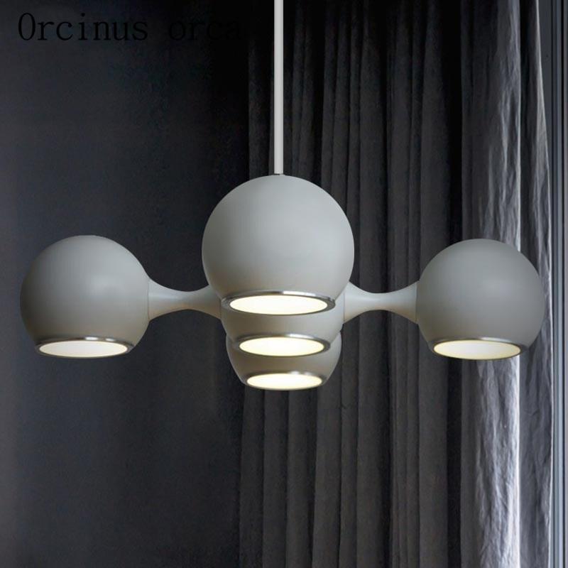 Новейший Скандинавский современный минималистичный светодиодный Люстра для спальни, бара, ресторана, американского стиля, люстра с космич... - 4