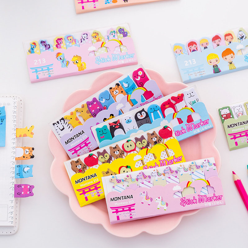 Lower Price with Cute Kawaii Cartoon Animal Finger Unicorn Memo Pad N Times Sticky Note Paper Korean Stationery Cat Planner Sticker School Office Office & School Supplies