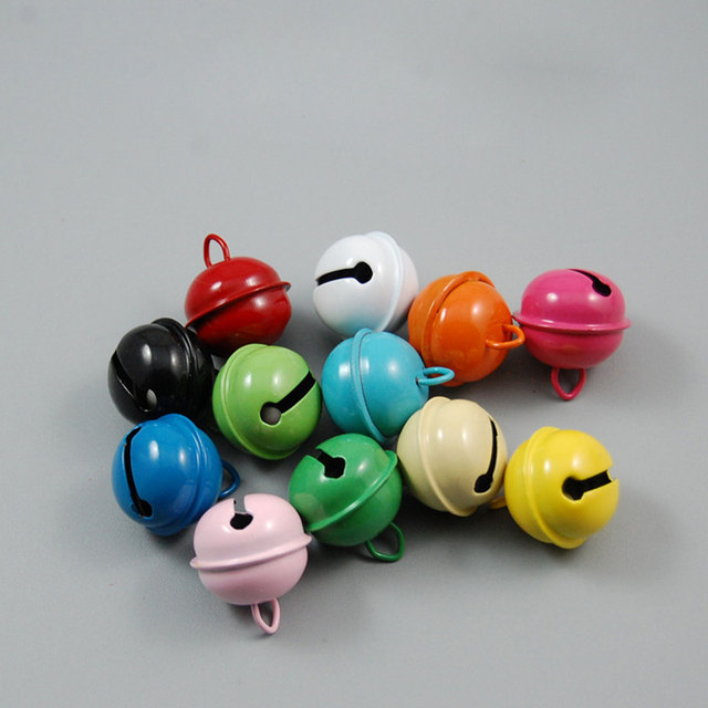 13 Colors Iron Metal Jingle Bell Christmas Decoration Pet Pendants Key DIY Crafts Handmade Accessories 20pcs