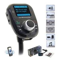 חדש SIYAA MP3 ערכת רכב Bluetooth דיבורית משדר FM נגן מוסיקת רדיו מתאם עם שלט רחוק עבור iPhone Smartphone