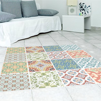 INS Mediterranean style PVC floor sticker Bedroom Study Room waterproof non slip wear resistant floor sticker Personalized decor