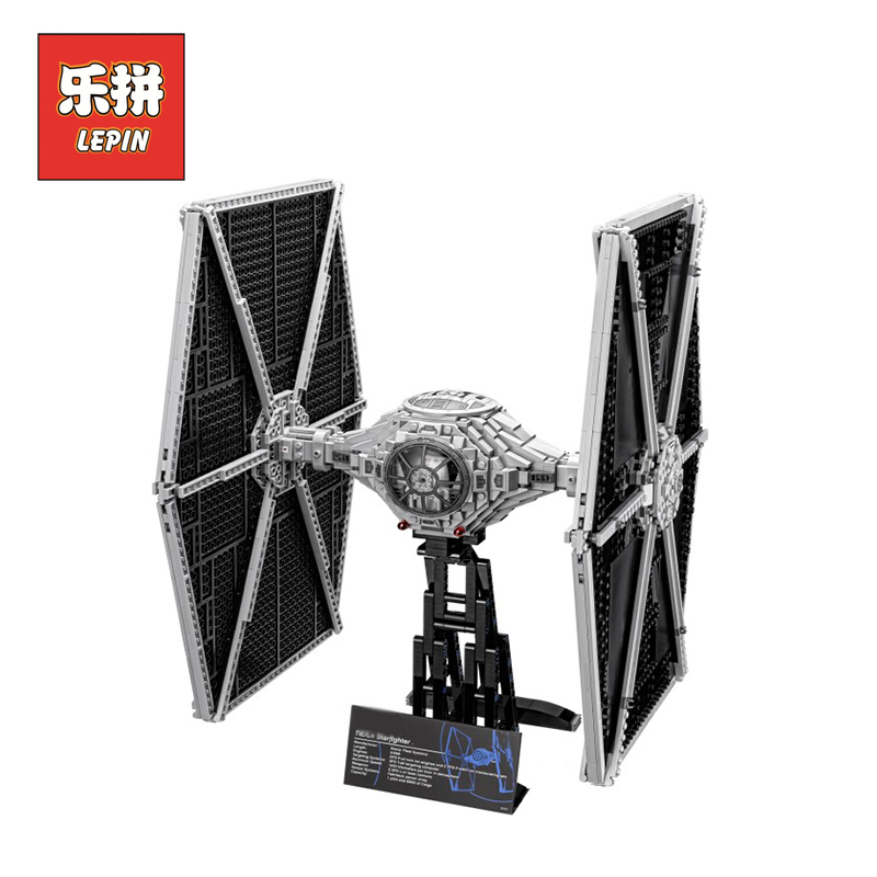 NEW LEPIN 05036 Star Wars Holiday toy 1685pcs TIE Fighter Model Building blocks Bricks Classic LegoINGlys 75095 to Boys Gift new 1685pcs lepin 05036 1685pcs star series tie building fighter educational blocks bricks toys compatible with 75095 wars