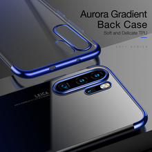 CAFELE New Luxury Case for huawei p30 pro Cover Gradient Plating Silicone Transparent Aurora Soft TPU Phone