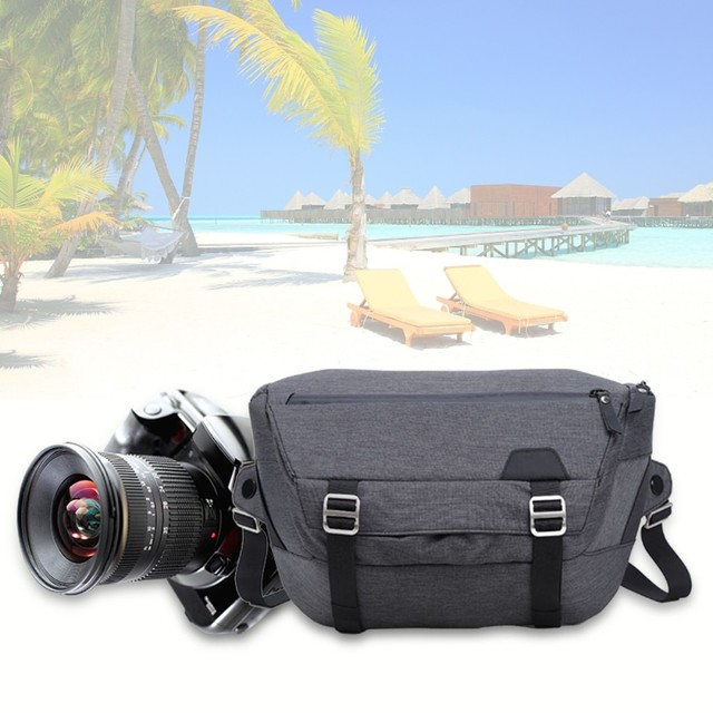 Bolso clásico de viaje para cámara dslr impermeable de poliéster con cremallera hombro mensajero foto bolsas funda para cámaras de vídeo Canon Nikon Sony