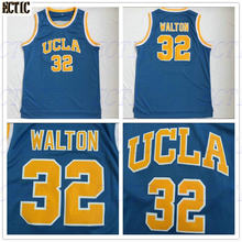 fef7dea6b194 2018 hot sale Cheap 32 Bill Walton UCLA Bruins College Basketball Jersey  Embroidery Logos Blue 100% Stitched Jerseys