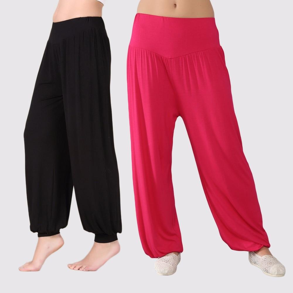 f02a1cce1ae Plus size pajama bottoms bloomers 2019 summer autumn women men loose thin sleepwear  modal lounge pyjamas