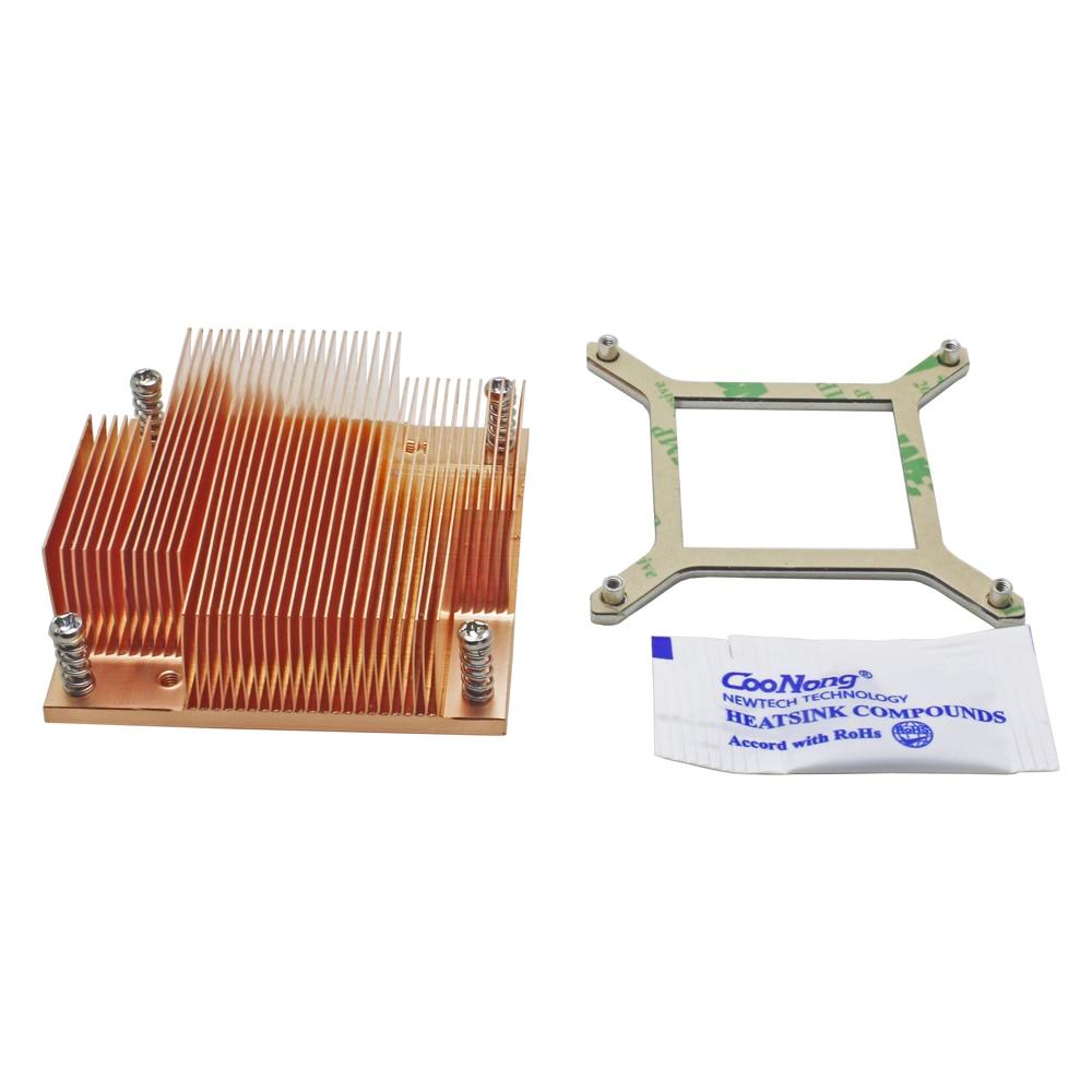 Server CPU Cooler Copper heatsink for Intel Core PGA988 989 i7-600 i5-500 i5-400 i3-300 Mobile Processor Computer cooling