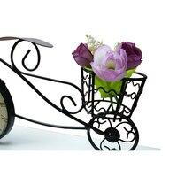 Creative Pendulum Clock Black Retro Iron Bicycle Bell Fairy Garden Ornaments Home Decoration Accessories
