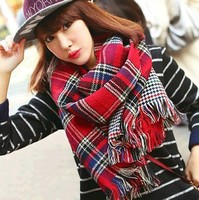 Double Sided Home Houndstooth Plaid Scarves Super Warm Cashmere Scarves Shawls England College Wind Wholesale