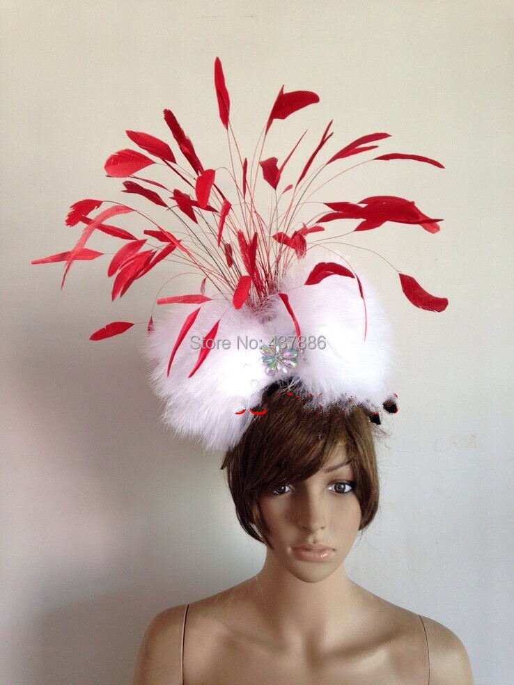 Aliexpress.com   Buy Carnival feather headwear for girls party dancing  performance female clothes bow hair headdress dance feather headpiece  costume from ... 01cda4c4654