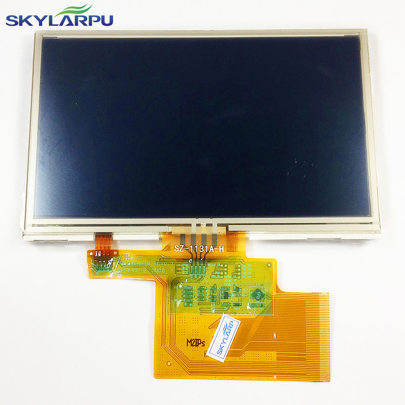 skylarpu 4 3 inch LMS430HF19 LCD screen touch panel for TomTom XL IQ RATES GPS LCD