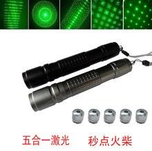 5 star cap Powerful green laser pointer 80000mw 80w 532nm high power Burning focusable burn match,burn cigarettes+charger+box