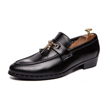 Luxury Brand Men Dress Shoes Fashion Tassel Loafers Genuine Leather Italian Formal Office Oxfords For