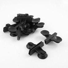10 шт. черный Пластик аквариум присоски 60 мм x 5 мм Стекло Зажимы
