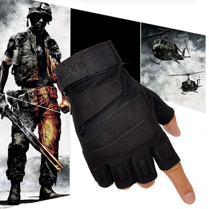 Brand  Outdoor Sports Fingerless Military Tactical Hunting Riding Gloves