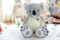 stuffed plush toy large 100cm gray koala plush toy soft throw pillow Christmas gift b0264
