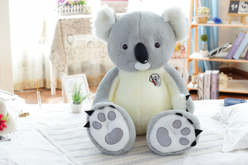stuffed plush toy large 100cm gray koala plush toy soft throw pillow Christmas gift b0264 large 75cm gray shark plush toy soft throw pillow birthday gift xmas gift d2398