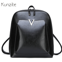 Famous Brand Leather Backpack Vintage Women Backpack for Girls Simple Large Capacity Travel Shoulder Bags for Women Bagpack Sac