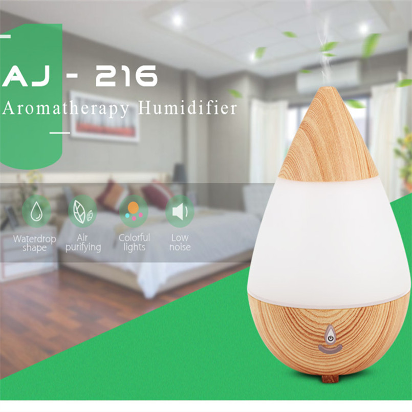 235ml Aroma Essential Oil Diffuser Ultrasonic Air Humidifier With Wood Grain 3 Color Changing LED Lights For Office Home vintage wood grain color block flannel rug page 3
