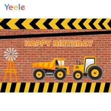 Yeele Baby Boy Birthday Construction Party Photography Backgrounds Vinyl Custom Photographic Backdrop For Photo Studio Props
