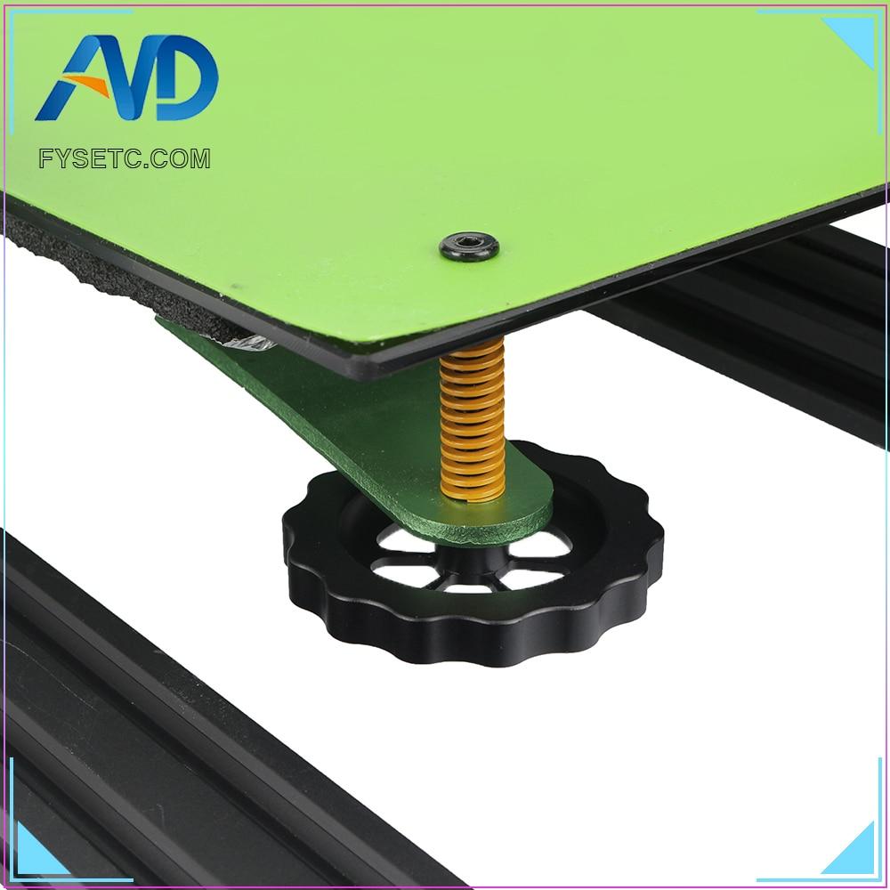 Piezas de impresora 3D, tuerca de nivelación giratoria de mano grande, todo Metal para impresora TEVO Tornado 3D, perilla de nivelación definitiva, rosca M5, 1 ud.
